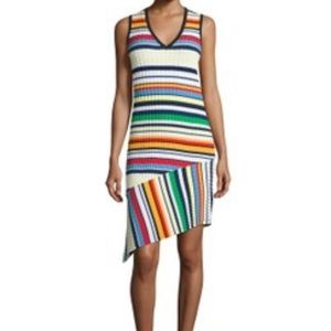 Milly A-Symmetric striped dress